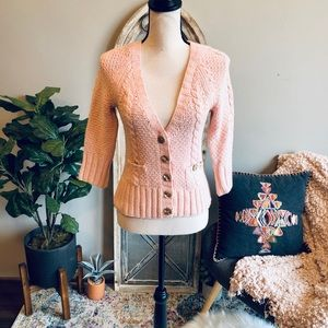 Banana Republic Chunky Knit Buttoned up Sweater💋